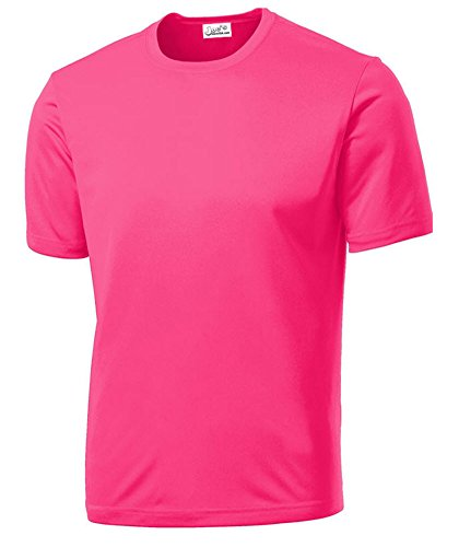 (Joe's USA - All Sport Neon Color High Visibility Athletic T-Shirts in Sizes XS-4XL )