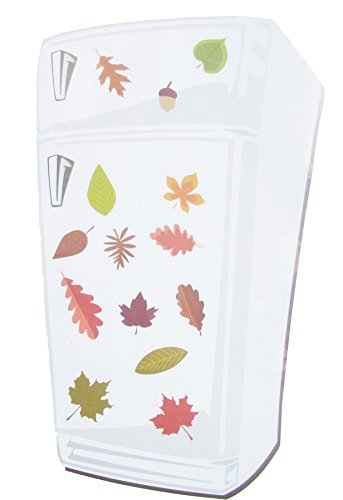 Autumn Leaves Magnets - Fall Harvest Thanksgiving Refrigerator Magnets ~ Fun Autumn Theme Decorations (Leaves & Acorns)