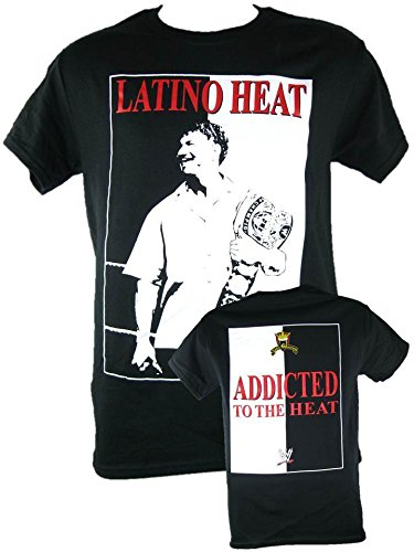 Freeze Eddie Guerrero Addicted to The Heat Championship Belt Mens Black T-Shirt-XXL