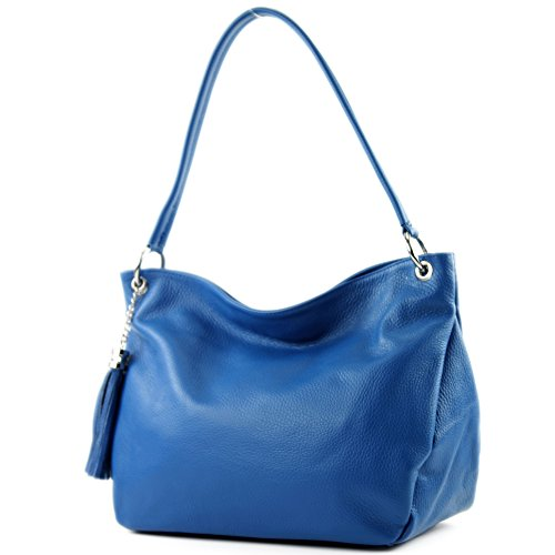 Leather Shoulder Modamoda Case Ital De Bag Blue T154 Genuine PAwEwIqxr