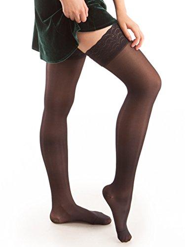 GABRIALLA Sheer Thigh Highs, Compression Stockings (20-22 mmHg)