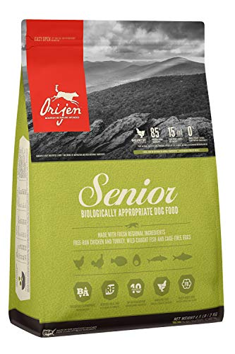 ORIJEN Dry Dog Food, Senior, Biologically Appropriate & Grain Free (Whats The Best Food For Dogs)