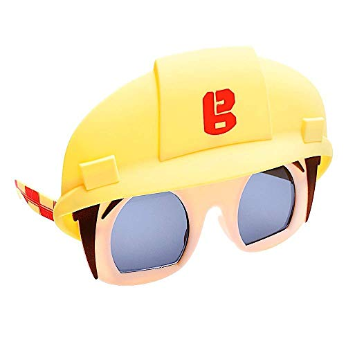 Adult Bob The Builder Costume (Sun-Staches Costume Sunglasses Bob The Builder Party Favors)