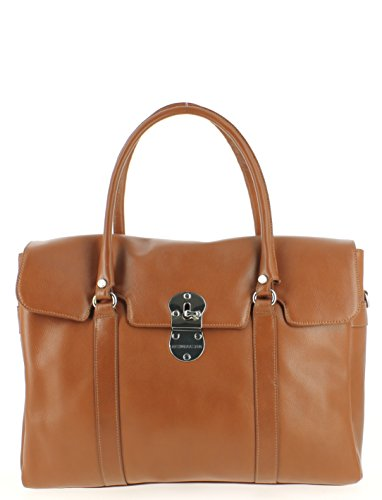 Arthur&Aston - Bolso estilo cartera para mujer marrón marrón 41 L x 29 H x 11 E cm