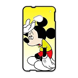 HTC One M7 Phone case Black Mickey Mouse QQA8794981