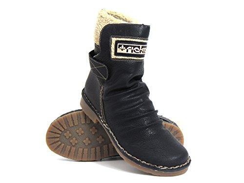 black moro Boots 00 75951 moro beige Ankle Women schwarz schwarz beige Rieker qtwO7fRt