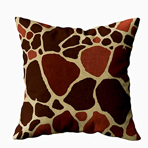 (Capsceoll Art Pillow Case, Giraffe Fur Pattern 20x20 Pillow Covers,Home Decoration Pillow Cases Zippered Covers Cushion for Sofa Couch)