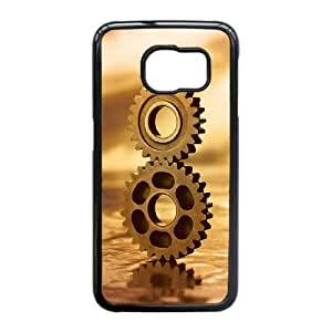 DIY Gears Theme Phone Case Fit To Samsung Galaxy S6 Edge , A Good Gift To Your Family And Friends