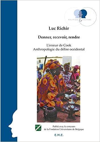 Amazon Fr Donner Recevoir Rendre Richir Luc Livres