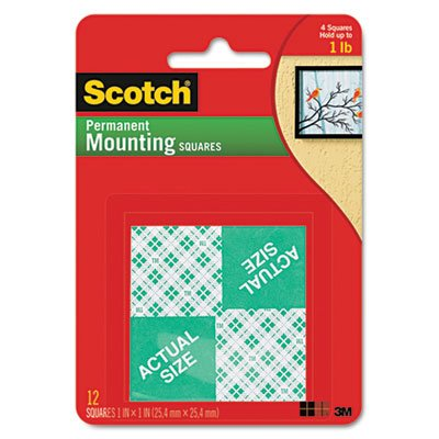 Stick Mounting Squares (Precut Foam Mounting 1 Squares, Double-Sided, Permanent 16/Pack)