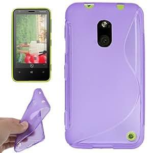 Type S TPU Protection Case Cover Carcasa Para Nokia Lumia 620 (Purple)