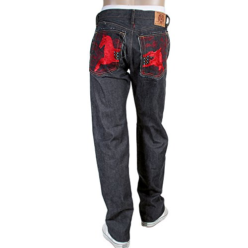 RMC Herren jeans Gesticktes rotes japanisches Webkante Lucky Horse RMC3748 denim jeans