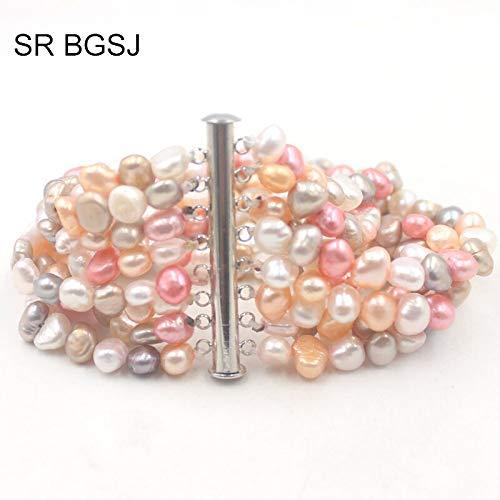 (Women's Pearl Beads Gems Handmade 8 Strand Bangles & Beaded Bracelets (4 Colors,)