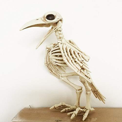 1 Pack, Halloween Crazy Bone Skeleton Raven 100% Plastic Animal Skeleton Bones Horror Halloween Prop Bird Crow Skeleton Decoration ()