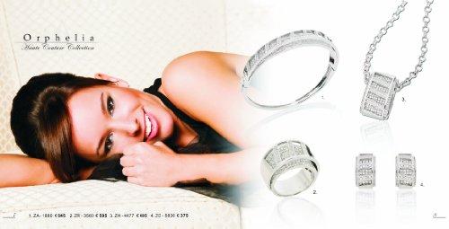Orphelia - ZA-1880 - Bracelet Femme - Argent 925/1000 20.8 gr - Oxyde de Zirconium - 19 cm