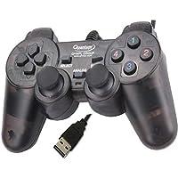 QUANTUM QHM7468-2V USB Vibration Game Pad Remote Joystick Computer GamePad Black