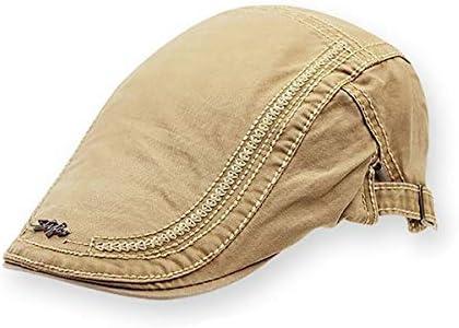 野球帽 キャスケット メンズ 鳥打帽 ゴルフ コットン 日よけ カジュアル 調整可能 ハンチング 55-61cm LWQJP (Color : ブラック, Size : M)