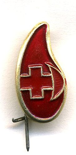 Donor USSR drop of blood Soviet Union Russian Historical Medical Cold war era Pin badge