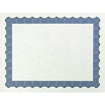 amazon com award certificates 50 blank plain ivory paper sheets
