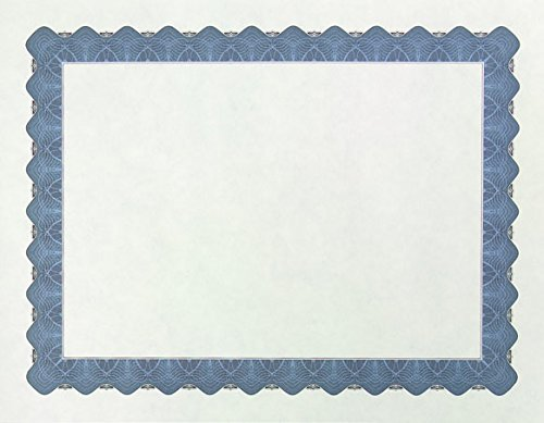 Great Papers! Metallic Blue Border Certificate, 8.5