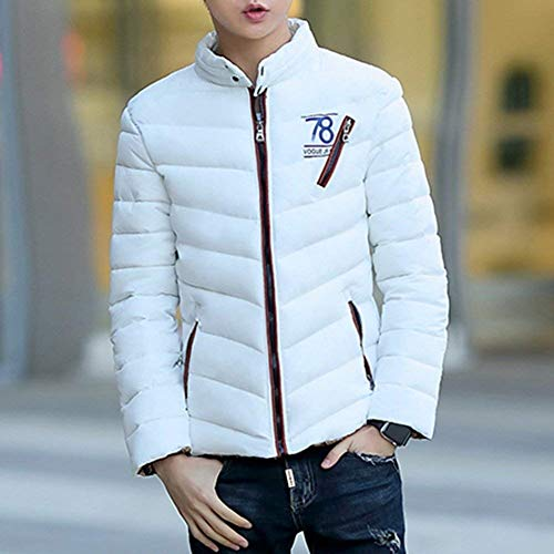 Jacket Laisla Short Quilted Thick Stand Quilted Jacket fashion Warm Clásico Collar Down Men's Coat Winter Parka Jacket Coat Long Light White Boy Sleeve twrqYUCw