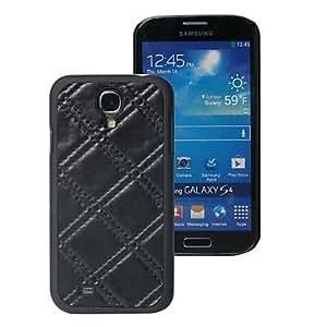 CECT STOCK Modelo cruzado de la manera Suturas PU cubierta de cuero de la protección Case para Samsung S4/i9500 , Blanco