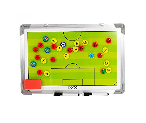 Firelong Football Soccer Magnetic Coaching Board Waterproof Aluminum Tactic Strategy Board with Hanging Hook and Erasable Marker Pen