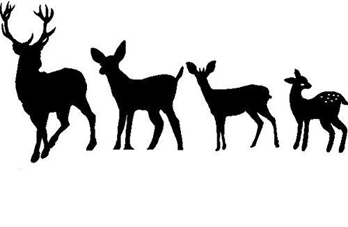 deer family window decal - 9