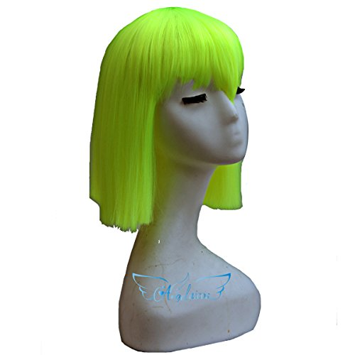 Angelaicos Women's Straight Charming Party Costume Cosplay Bob Wig 14