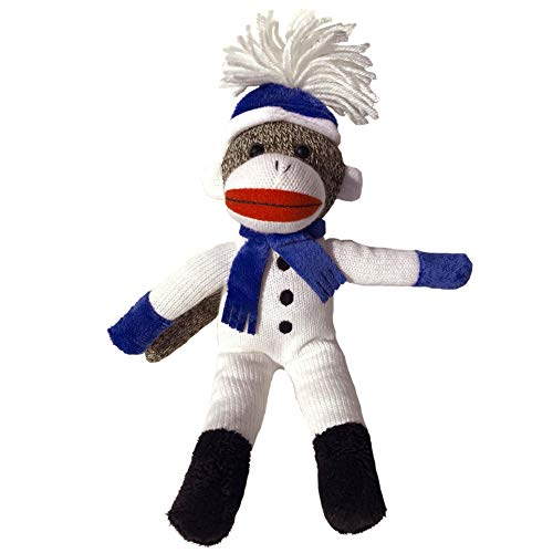 ColorBoxCrate Snowman Sock Monkey Plush, 12 inch Classic