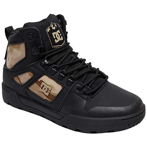 DC Men's Pure High-Top WR Ankle Boot, Black camo, 8 D M US (Dc Boots Men)