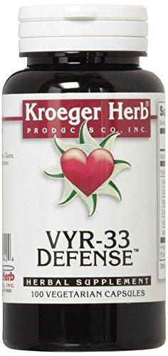 Kroeger Herb VYR-33 Defense Vegetarian Capsules, 100 Count