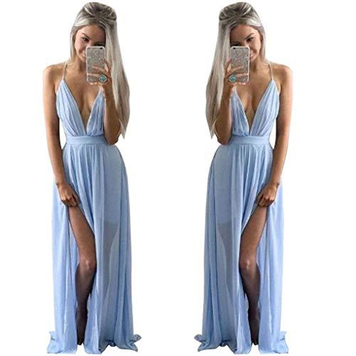 Haoricu Robe De Fête De La Mode Féminine Bleu