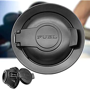 For 2008-2015 Dodge Challenger Parts Matte Black Vapor Edition Fuel Filler Door