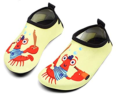 Giotto Kids Swim Water Shoes Quick Dry Non-Slip for Boys & Girls, G015B-Yellow, 36-37