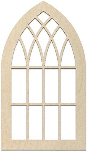 MPI WOOD ARCH1628 Baltic Birch Window Arch Plywood, Brown MPI MARKETING