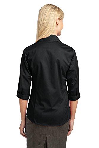 Autoridad Portuaria–Camiseta de manga 3/4para blusa. l6290 negro