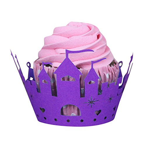 ☀KESEE☀Halloween Cake Cup, Halloween Pumpkin Lace Laser Cut Cupcake Wrapper Liner Baking Cup (E) (Bin Liner Witch Costume)