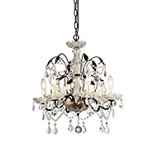 Whse of Tiffany 98442 Idina Antique Bronze Chandelier