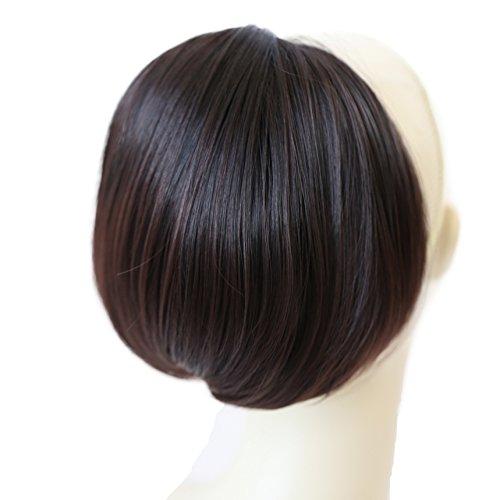 PRETTYSHOP BUN Up Do Hair Piece Hair Ribbon Ponytail Extensions Draw String Scrunchy Scrunchie Wavy Messy Dark brown mix # 1T33B H414