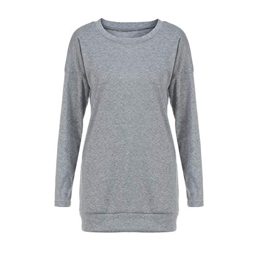 SBeWfigl Women's Casual Solid Color Patchwork Long-Sleeved T-Shirt top