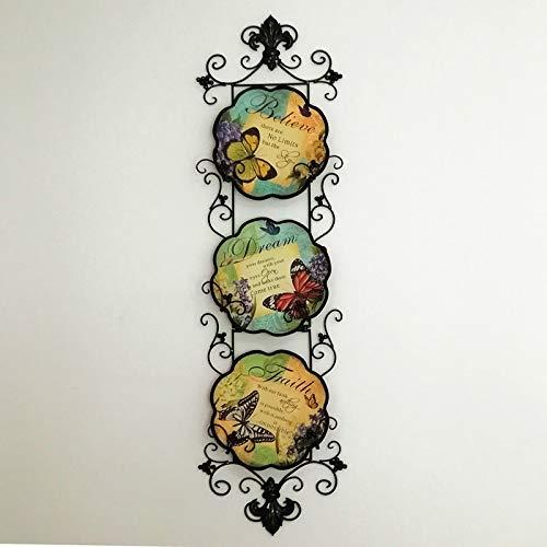AGECC Placa Colgante De Pared Colgante Decorativo Placa De Pared De Fondo Retro Adornos Artesanales De Decoración Suave Colgante E: Amazon.es: Hogar