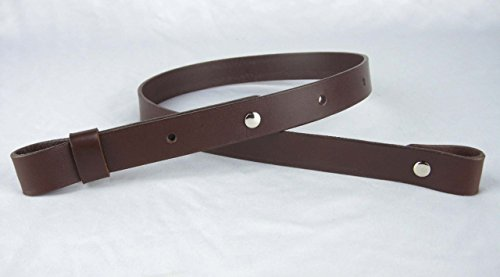 "Nohma Leather 1"" Leather Rifle Gun Sling, Dark Brown Color, Amish Handmade"