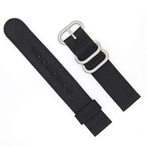20mm Rugged Khaki Stitched Canvas Watch Strap for Men and Women NATO Straps Dual Cotton Canvas Watch Bands by CHICLETTIES