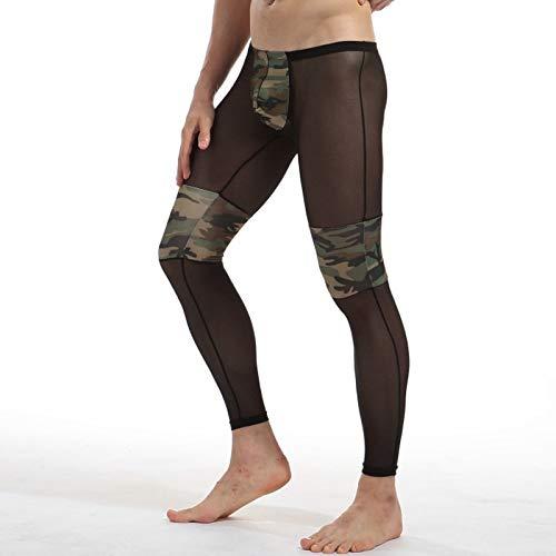 4fc0c4553e7ee SON Running Leggings Men's Sexy Transparent Camouflage Yoga Pants Men  Tights Breathable Bodybuilding Sheer Mesh Skinny Legging : Sports & Outdoors