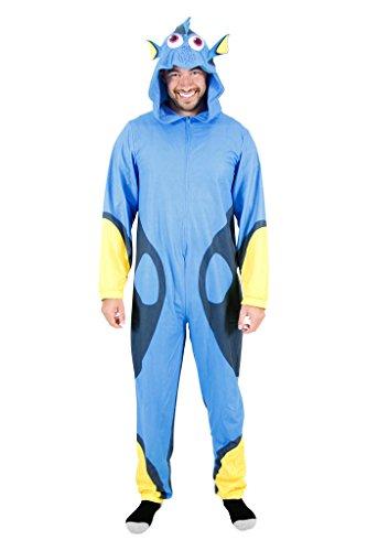 (Disney Men's Finding Dory Uniform Union Suit, Blue,)