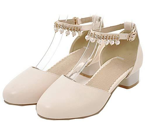 Puro FBUIDD010620 Basso Tacco Donna Beige Ballet Fibbia Flats AllhqFashion 0t5q7t