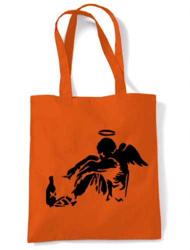 Banksy Bag Angel Shoulder Orange Fallen PqFtPrRw