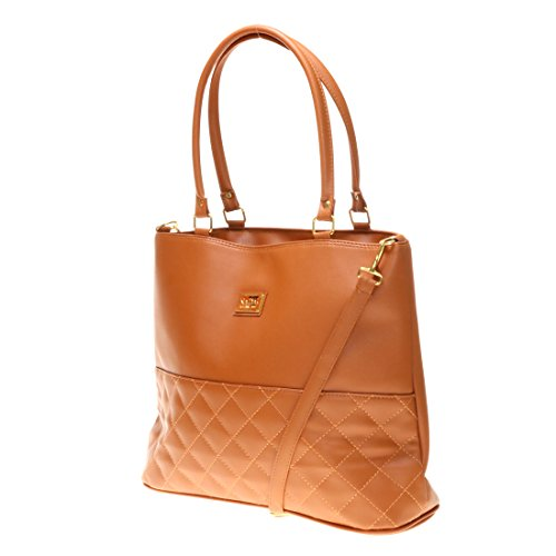 Brown PU Beautiful Satchel Twinya Handle Women's Strap Handbag Tote with Top Leather Hobo Zq7Ywq