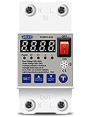 جهاز حماية من إرتفاع وإنخفاض التيار الكهربائي مدمج به جهاز حماية من الصعق الكهربي (إيرث ليكيدج) 63 أمبير